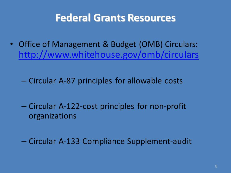 Supplement NOT Supplant A-133 Compliance Supplement provides three general situations where an auditor will presume use of federal funds will violate the supplement, not supplant requirement: Use of federal funds to provide services the SEA or LEA is required to make available under other federal, state or local laws Use of federal funds to provide services the SEA or LEA provided with state or local funds in the prior year Use of Title I, Part A funds to provide the same services to Title I students that the LEA or SEA provides with state or local funds to nonparticipating students