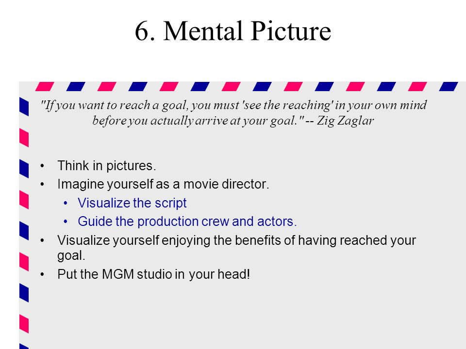 6. Mental Picture
