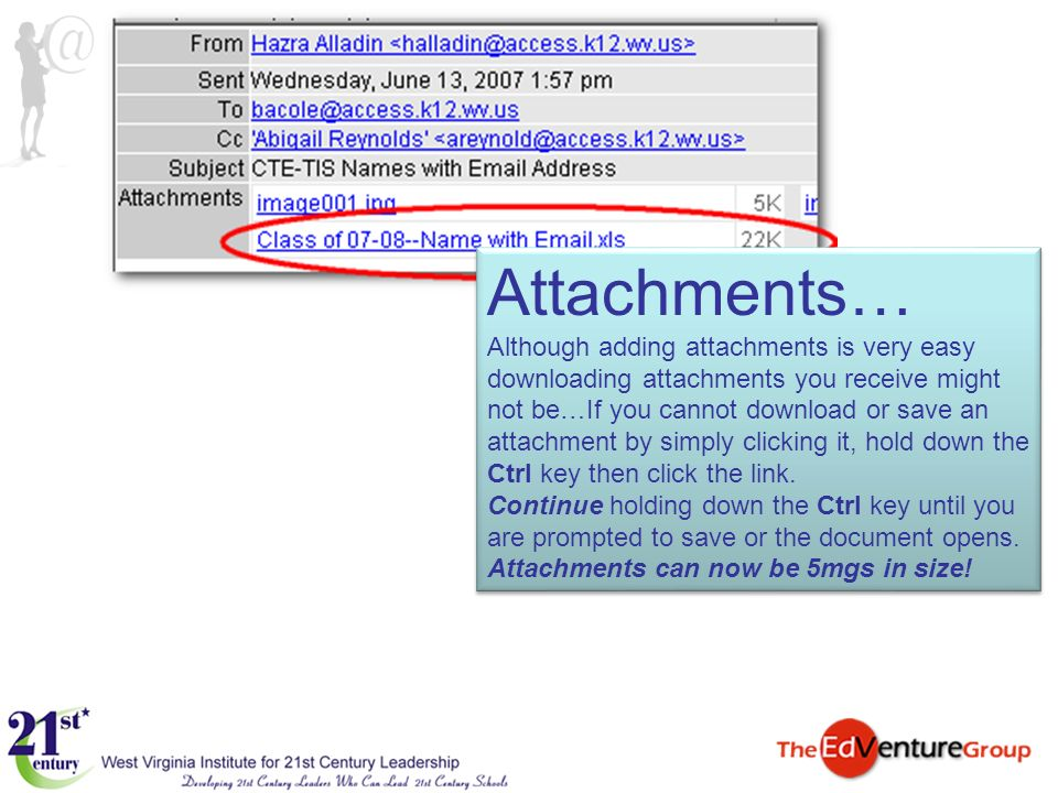Attachments… Although adding attachments is very easy downloading attachments you receive might not be…If you cannot download or save an attachment by