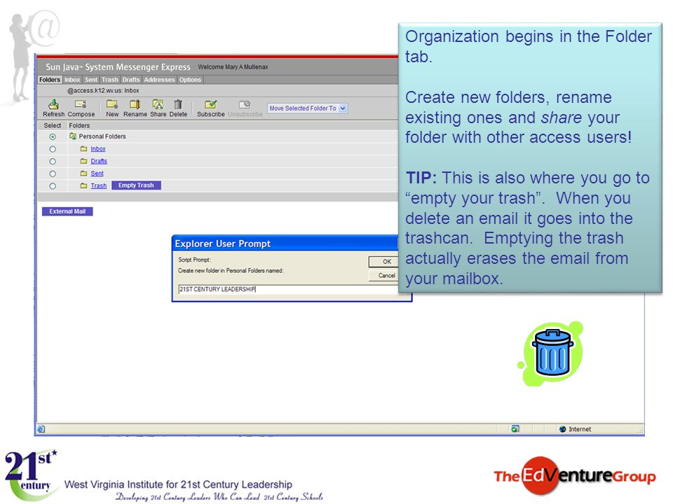 Organization begins in the Folder tab. Create new folders, rename existing ones and share your folder with other access users! TIP: This is also where