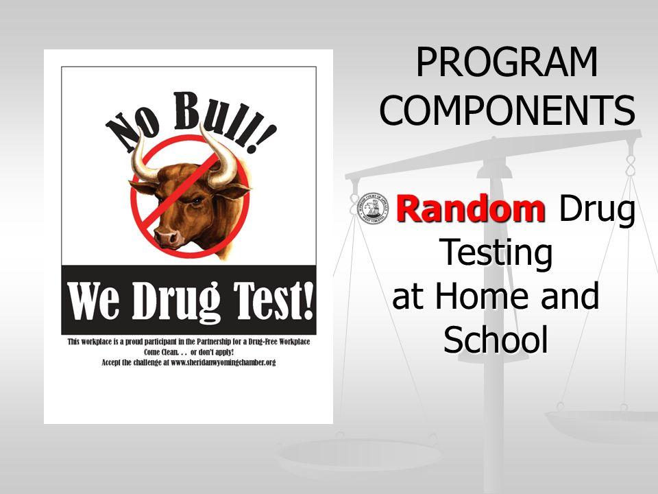 Random Drug Testing Random Drug Testing at Home and School PROGRAM COMPONENTS