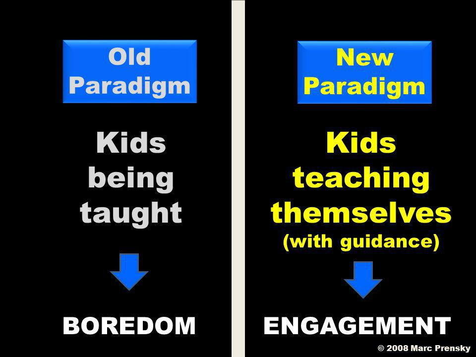A New Paradigm For Learning A New Paradigm For Learning © 2008 Marc Prensky