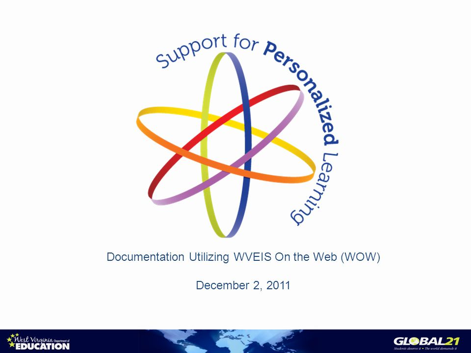 Documentation Utilizing WVEIS On the Web (WOW) December 2, 2011