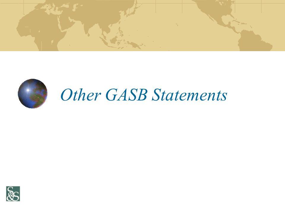 Other GASB Statements