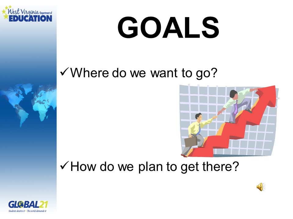 GOALS Where do we want to go? How do we plan to get there?