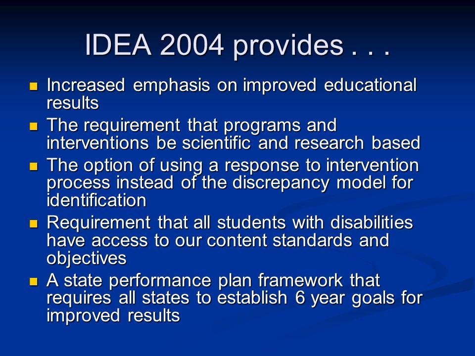 IDEA 2004 provides...