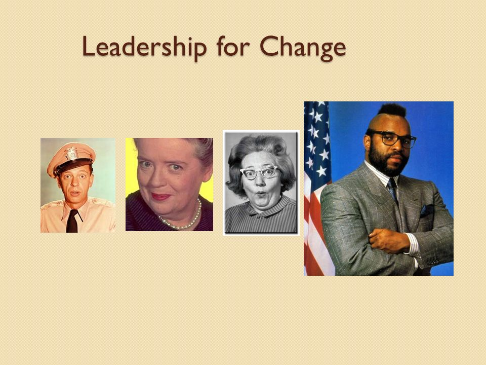 Leadership for Change