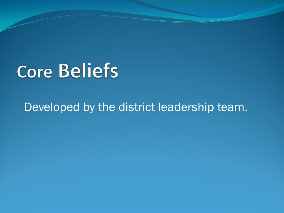 Developed by the district leadership team.