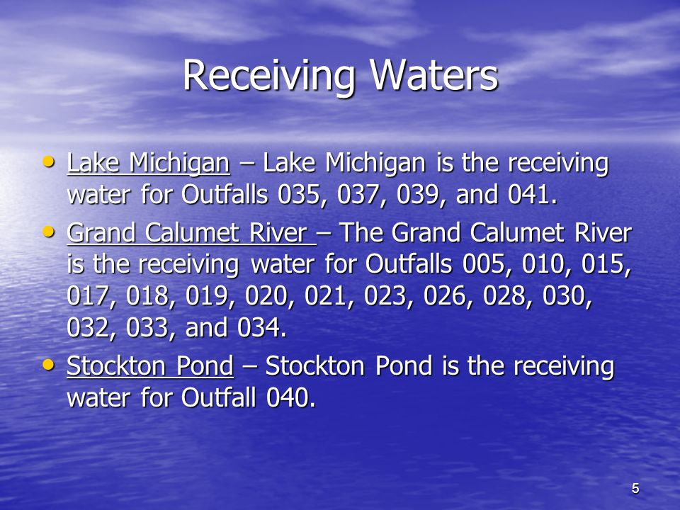 6 Lake Michigan Lake Michigan is designated as an outstanding state resource water, Lake Michigan is also designated for full-body contact recreation and must be capable of supporting a well-balanced warm water aquatic community.
