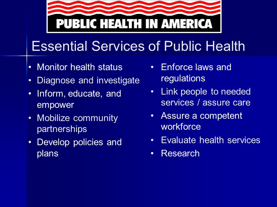 By doing Essential Service # 3 We make accessible - health information and educational resources.