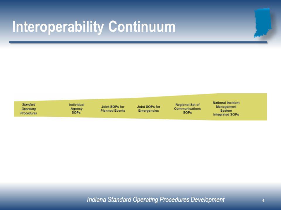 Indiana Standard Operating Procedures Development Interoperability Continuum 4