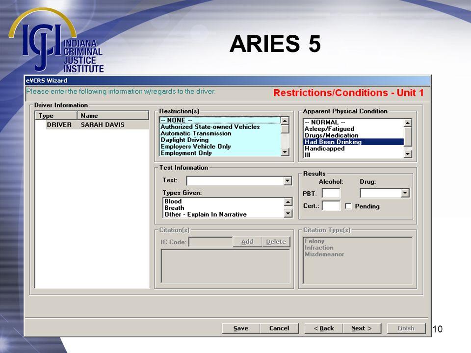 ARIES 5 10