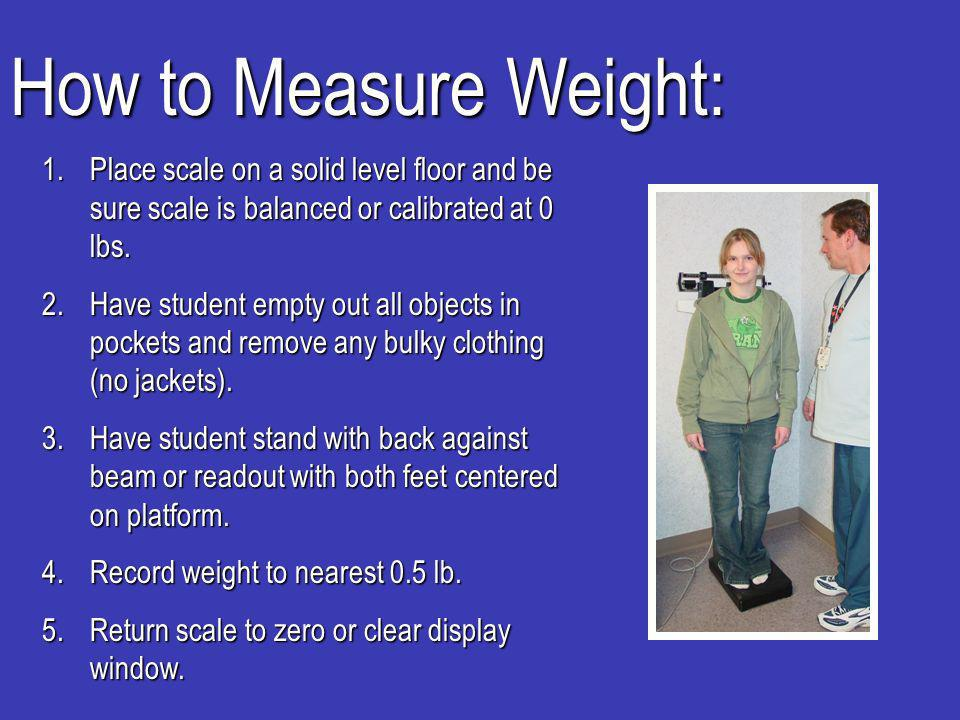 How to Record Measurement: -Use a separate page for each day data is collected.