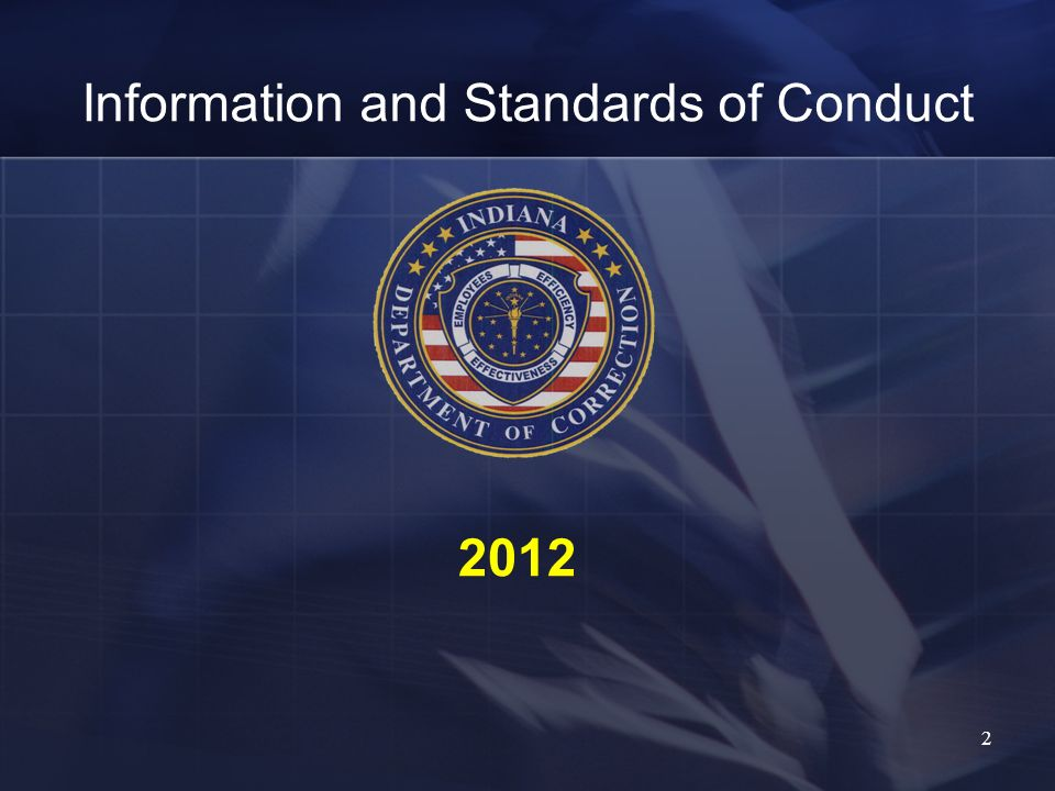 Information and Standards of Conduct 2012 2