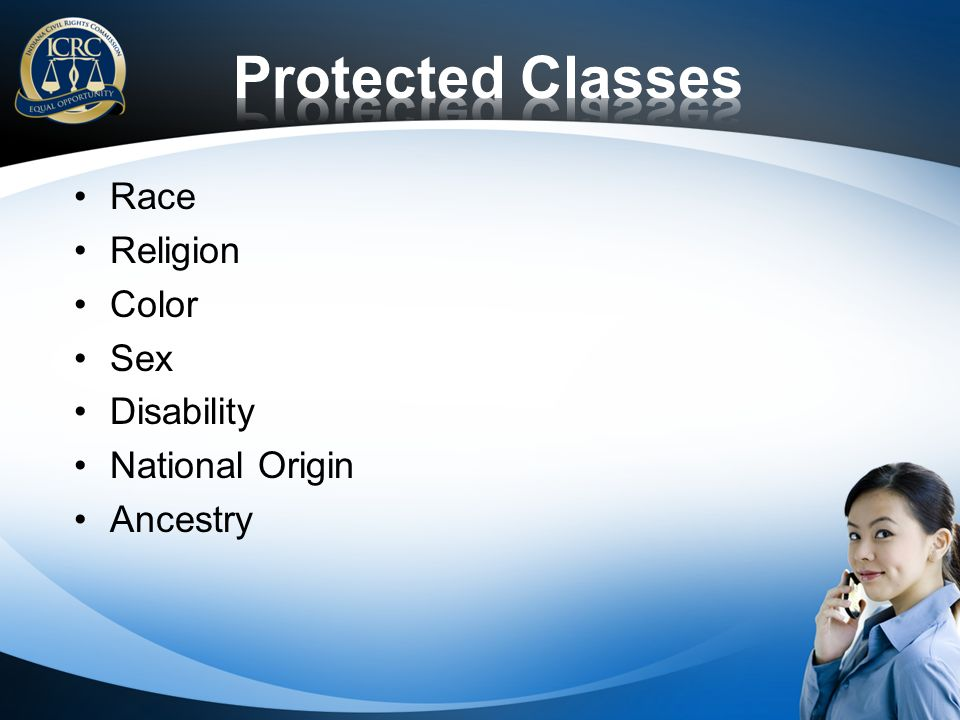 Race Religion Color Sex Disability National Origin Ancestry