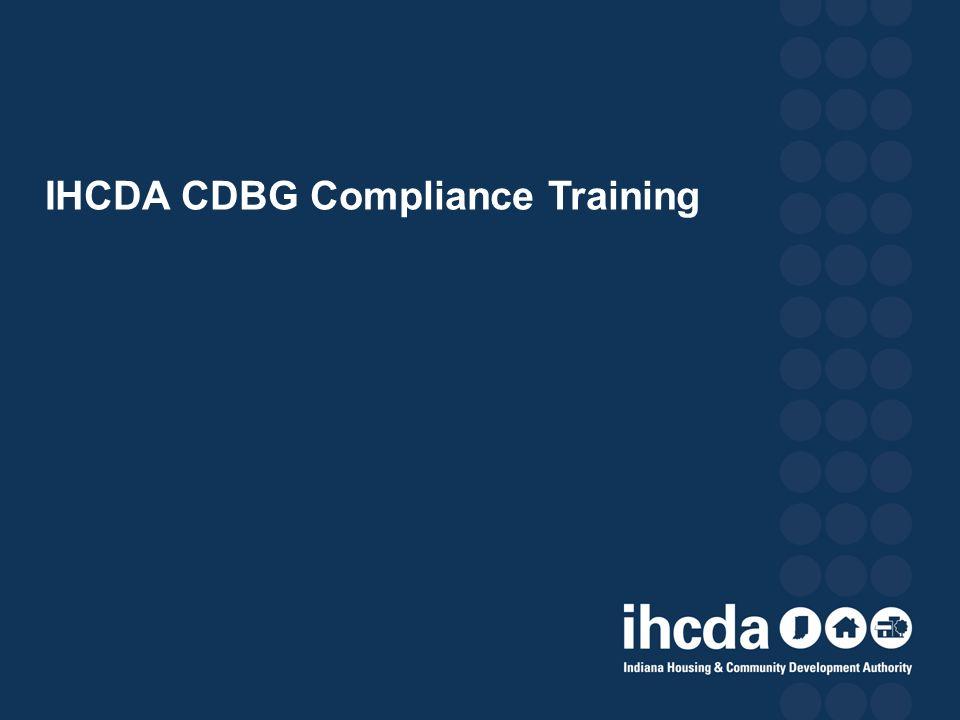 IHCDA CDBG Compliance Training
