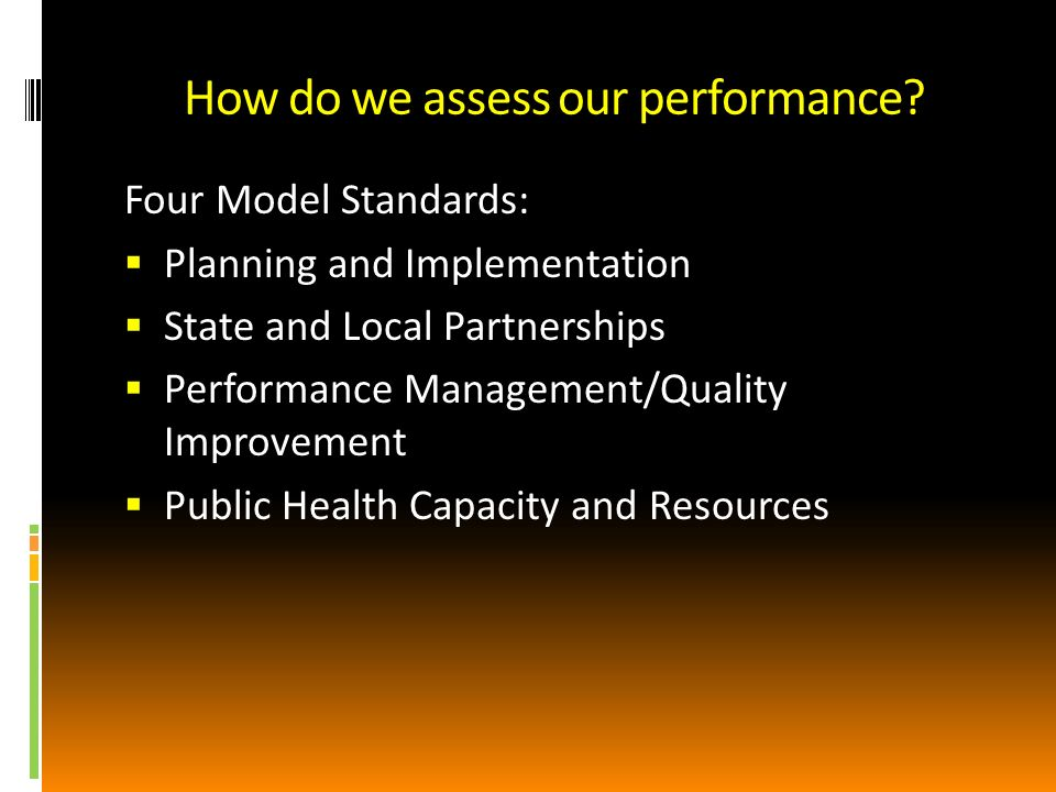 How do we assess our performance.