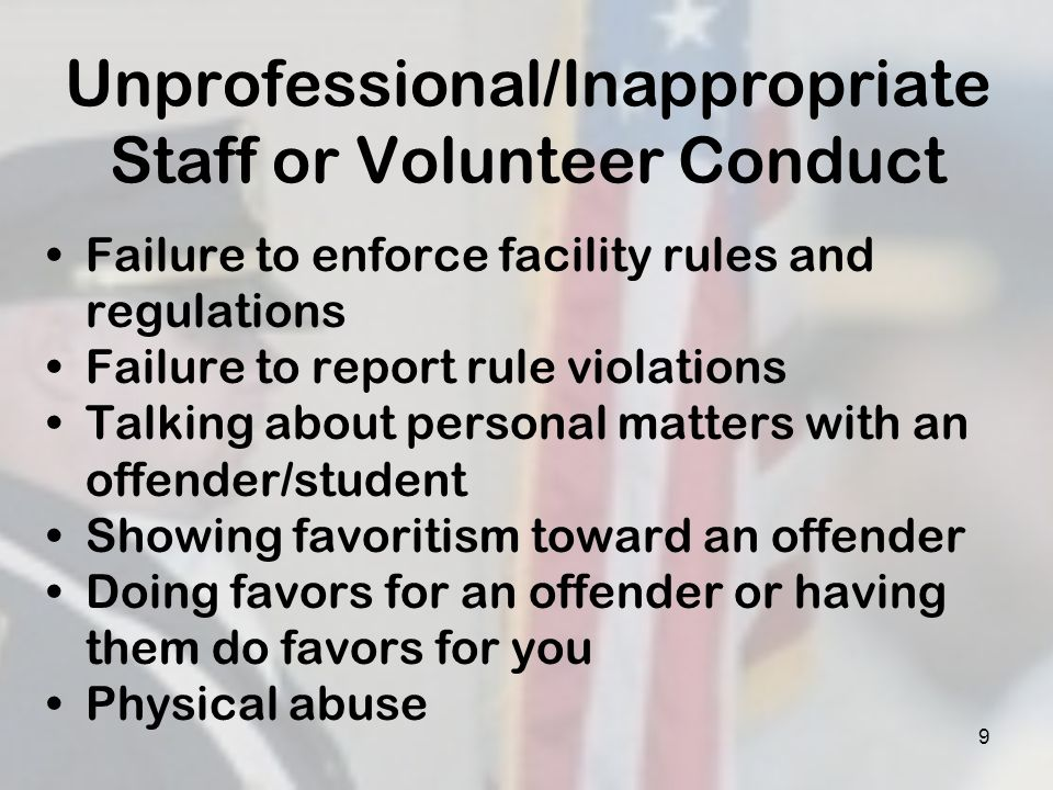 20 Communication Dos Be firm, fair and consistent Be polite (business-like), not friendly Be strict and consistent about offenders and students following the rules Follow through on appropriate offender or student requests Be a good listener