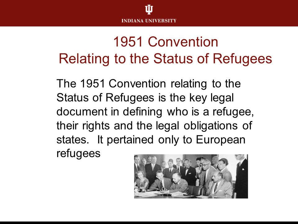1951 Convention Relating to the Status of Refugees The 1951 Convention relating to the Status of Refugees is the key legal document in defining who is a refugee, their rights and the legal obligations of states.