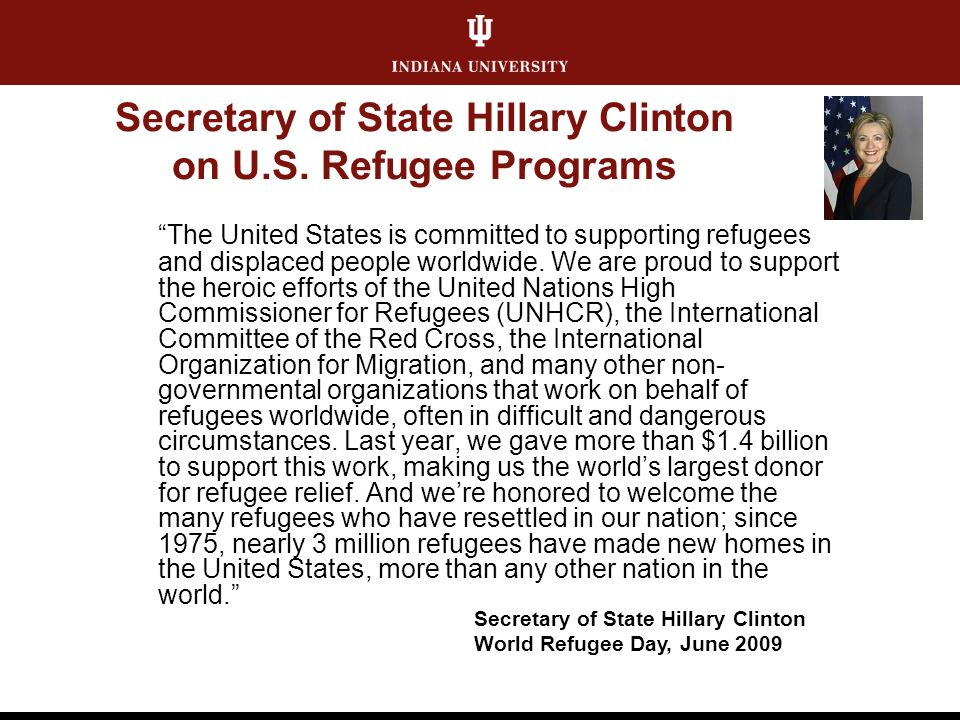 Secretary of State Hillary Clinton on U.S.