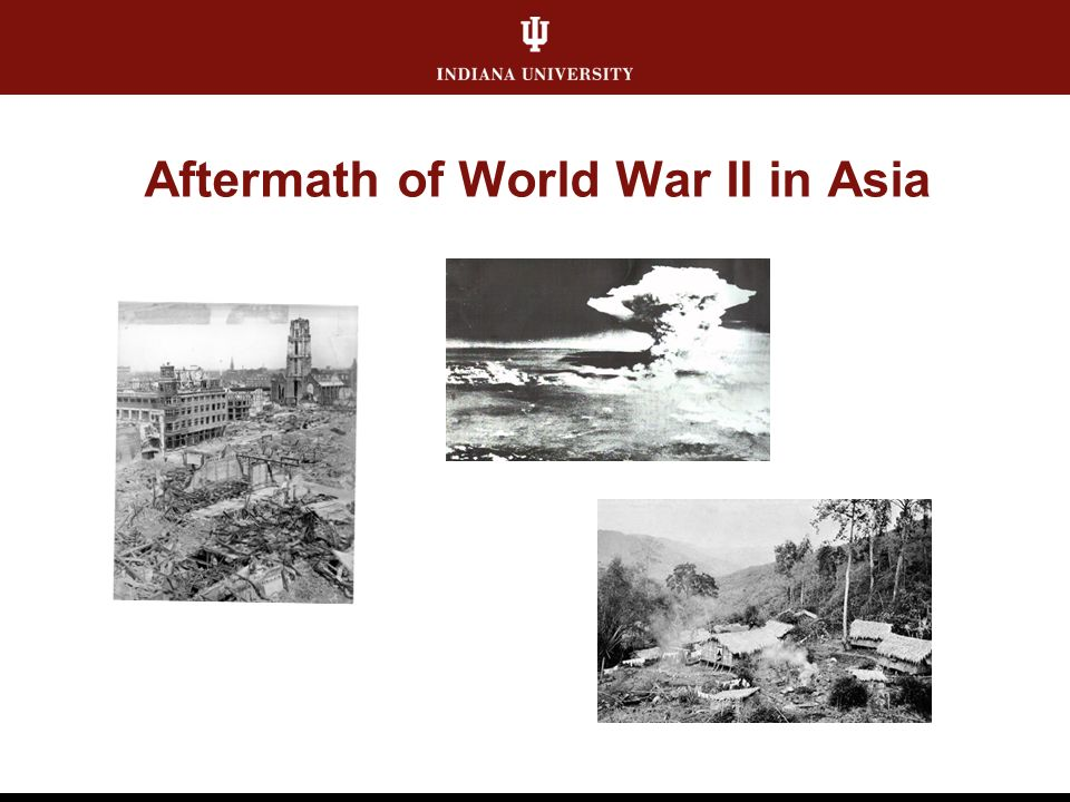 Aftermath of World War II in Asia