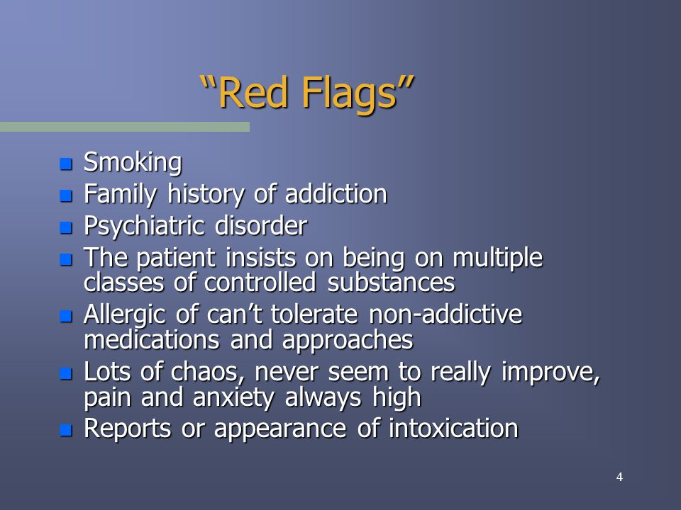 25 Addiction disorders are of epidemic proportions in healthcare settings.