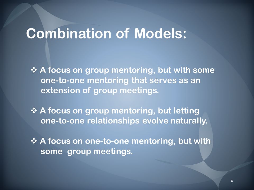 What does a mentoring relationship look like.