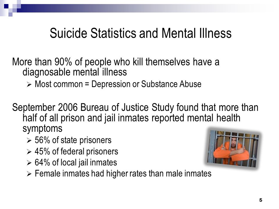Bureau of Justice Statistics Special Report Report mandated by Death in Custody Reporting Act of 2000 Data from 2000-2002 – Inmate and facility characteristics related to high risks of suicide and homicide 6