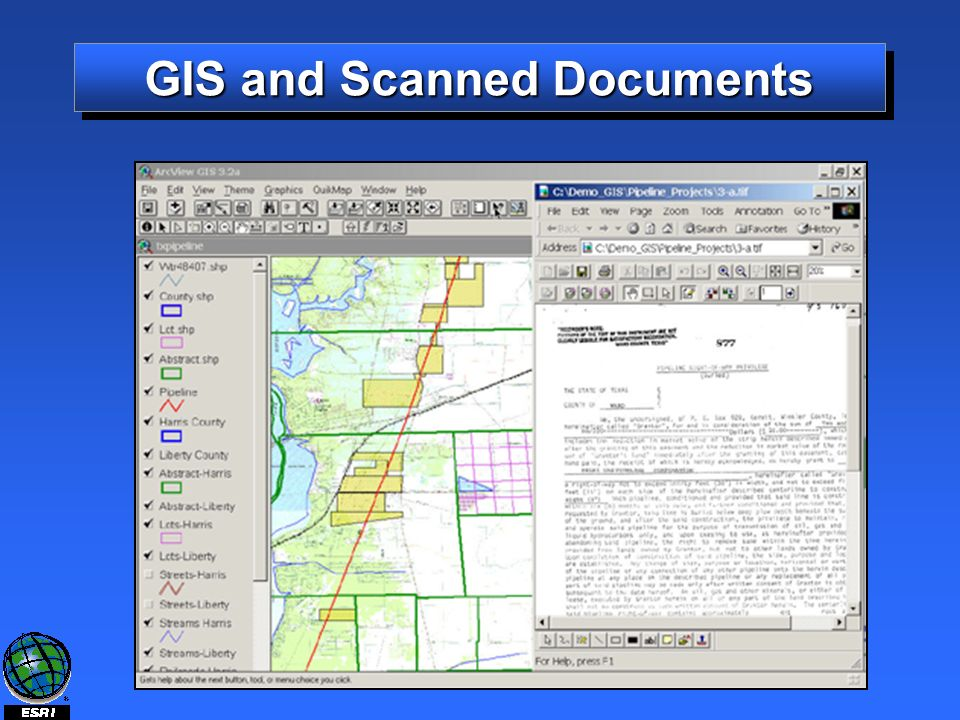 GIS and Scanned Documents