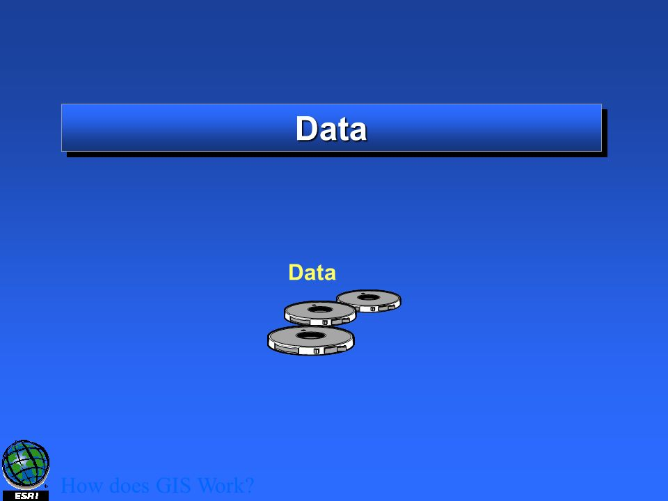 DataData How does GIS Work? Data