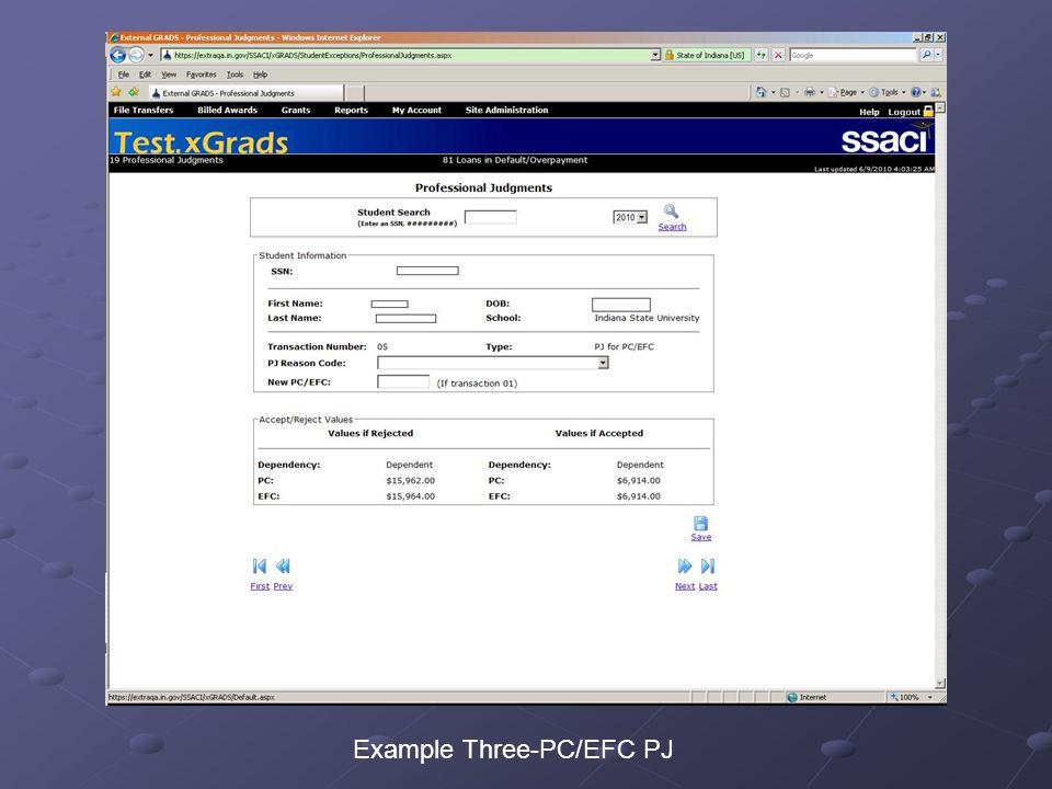 Example Three-PC/EFC PJ