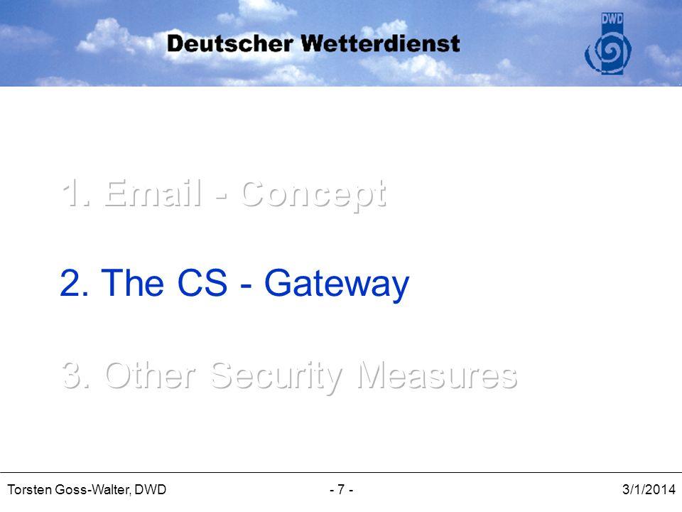3/1/2014Torsten Goss-Walter, DWD- 7 -