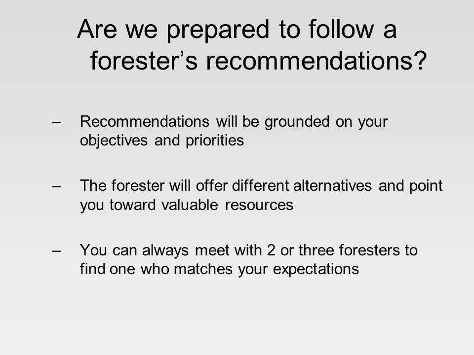 You decide to use a forester Where do we go from here Here are 5 steps to follow