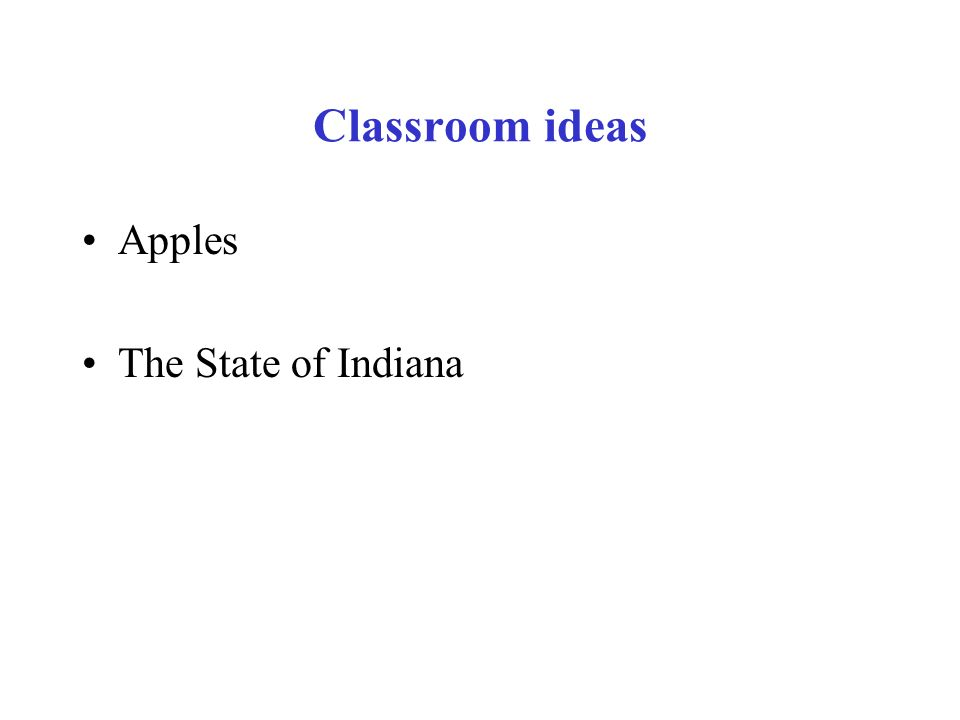 Classroom ideas Apples The State of Indiana
