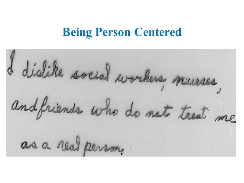 Being Person Centered
