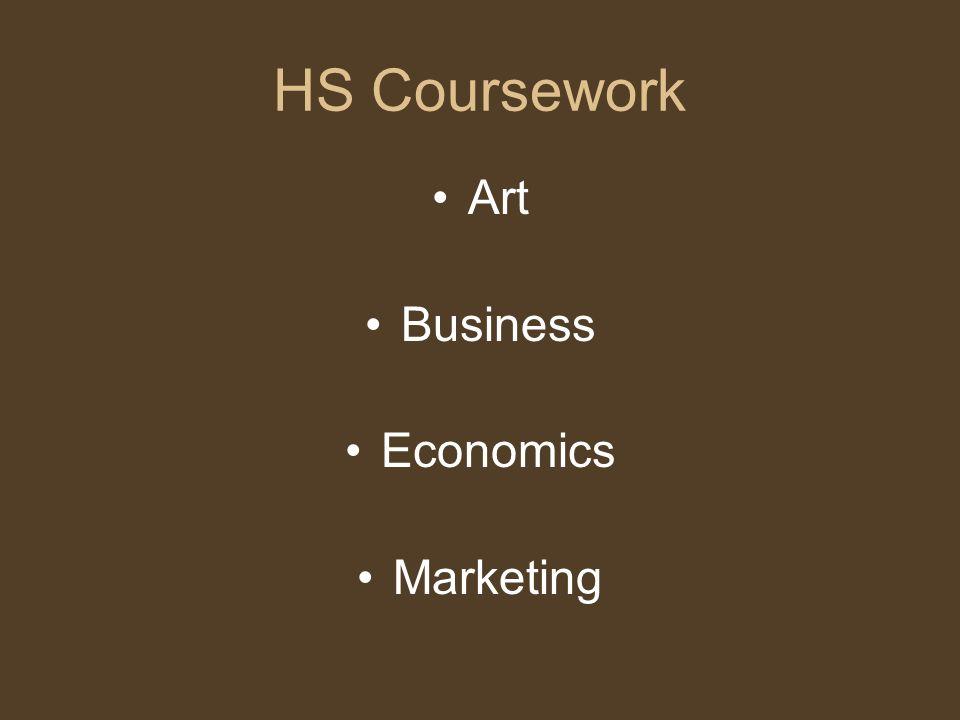 HS Coursework Art Business Economics Marketing