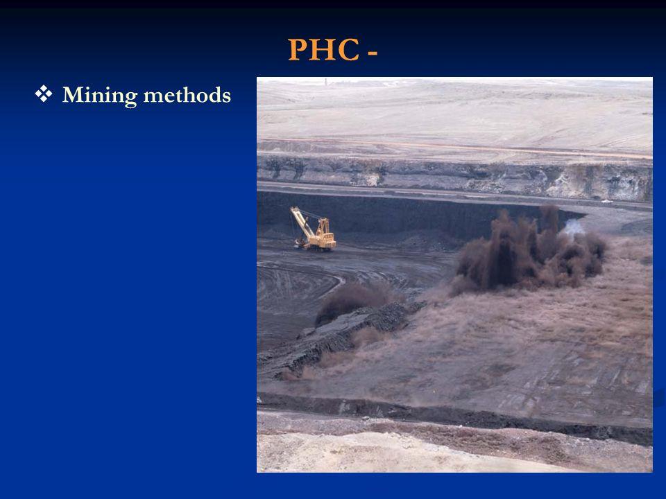 PHC - Mining methods