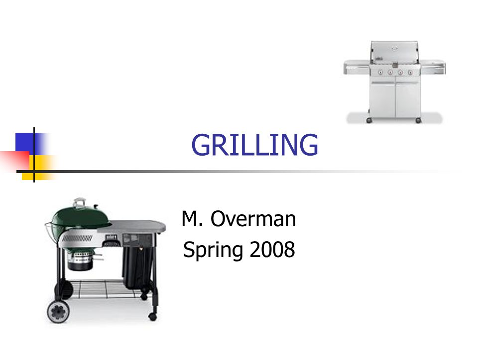 GRILLING M. Overman Spring 2008