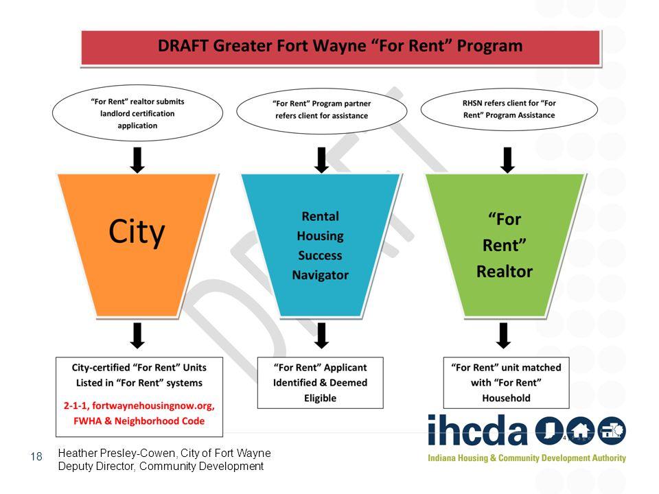 18 Heather Presley-Cowen, City of Fort Wayne Deputy Director, Community Development