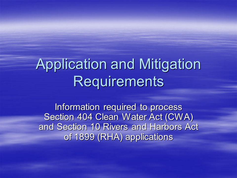Stream Mitigation Provide existing vs proposed pattern, profile and dimensions