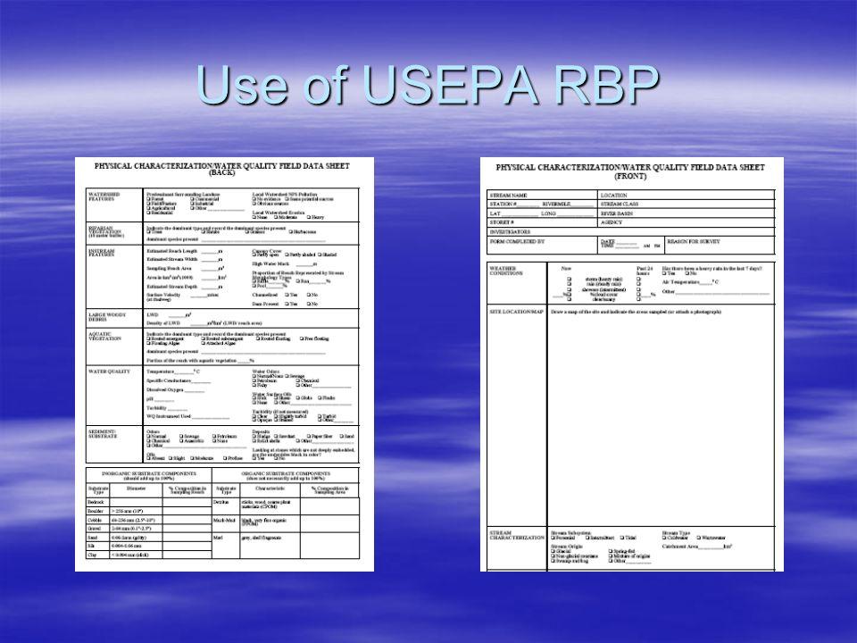 Use of USEPA RBP