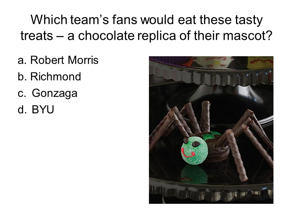 Which teams fans would eat these tasty treats – a chocolate replica of their mascot.