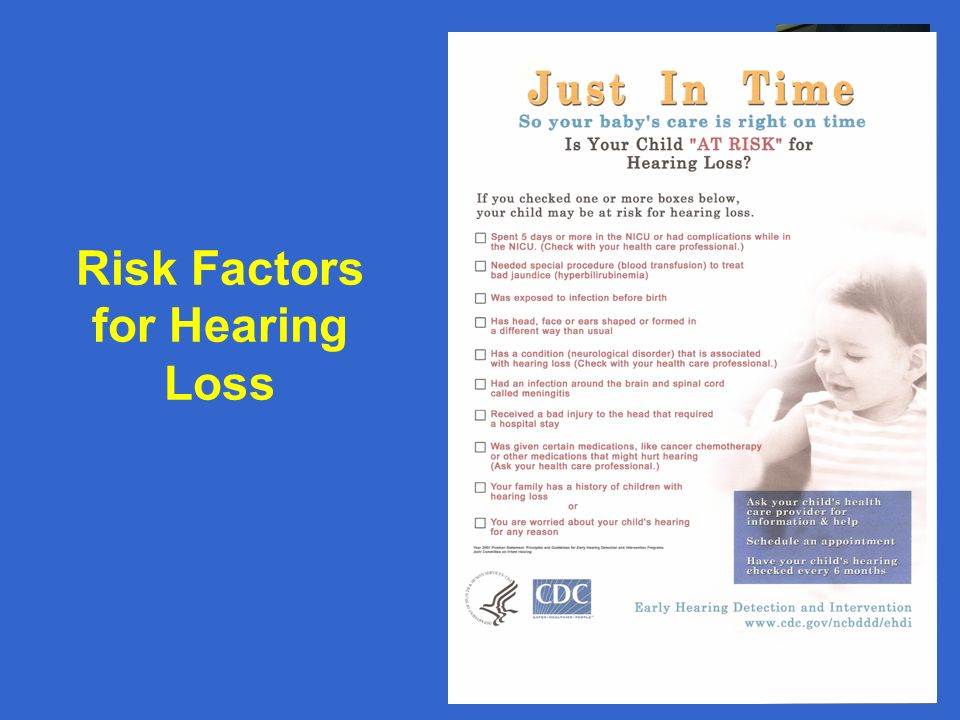 Risk Factors for Hearing Loss