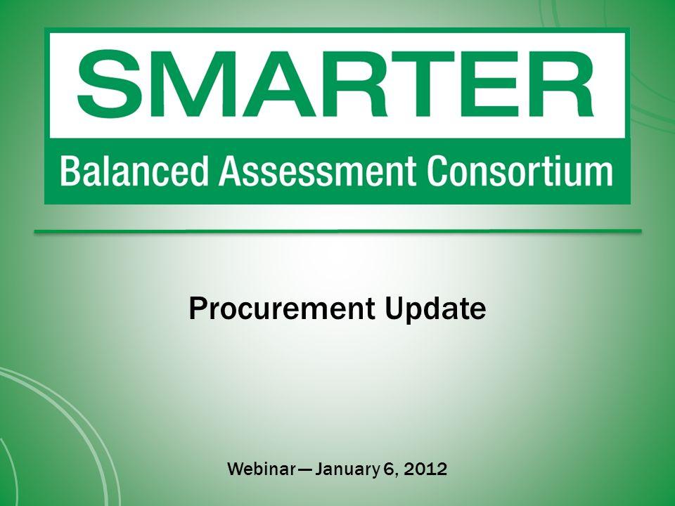 Procurement Update Webinar January 6, 2012