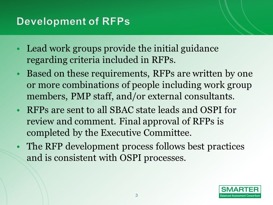 2 The procurement schedule was developed to align with the Master Work Plan. The Master Work Plan was developed based on the USED grant proposal and f