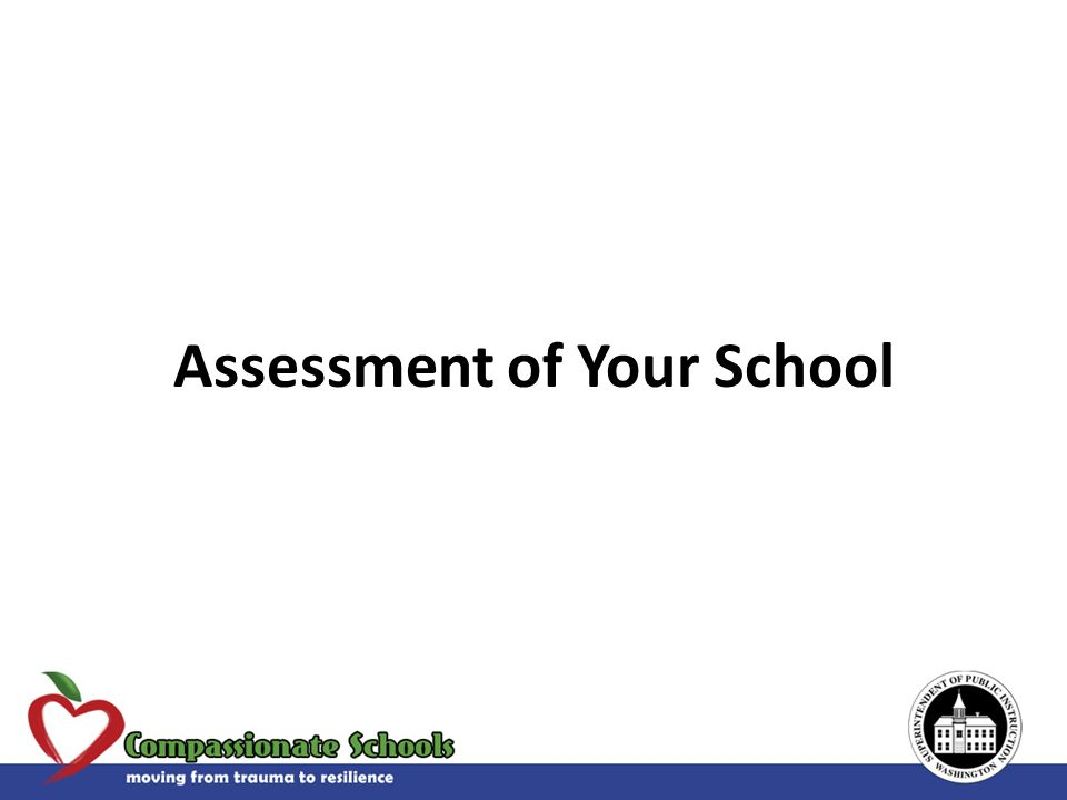 Assessment of Your School