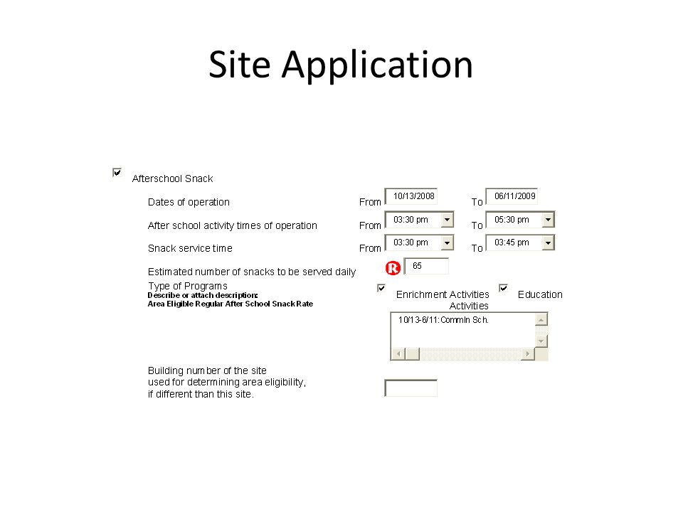 Site Application