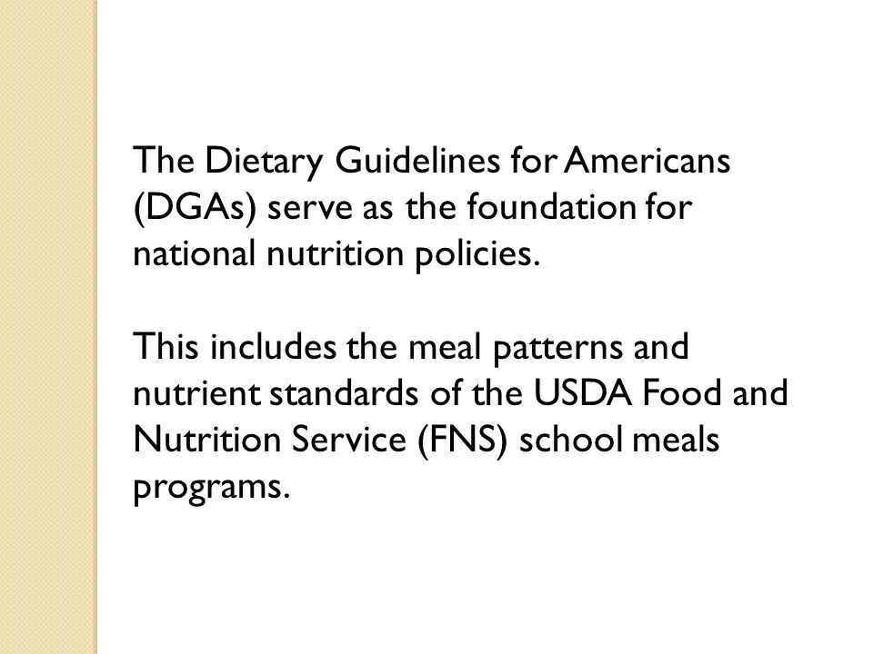 2004 Reauthorization Act The Child Nutrition and WIC Reauthorization Act of 2004 amended section 9(a) of the Richard B.