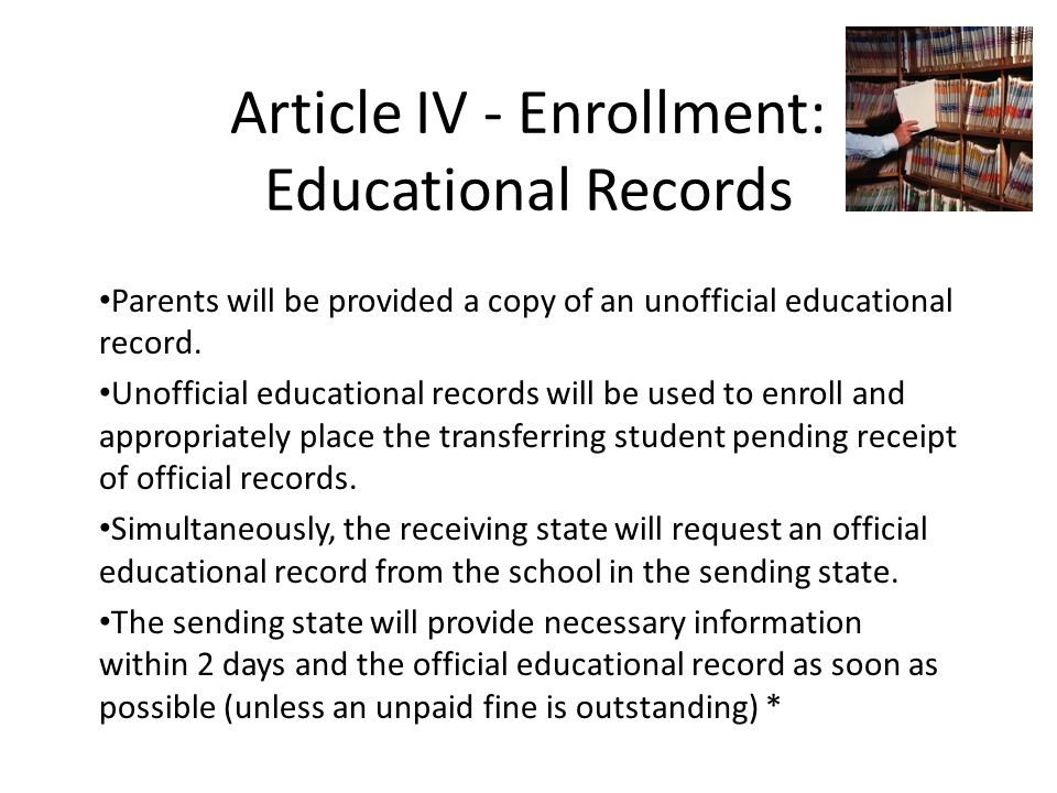 Article IV – Enrollment Immunizations As required by the Washington State Board of Health, proof of full immunization or the commencement of a series of immunizations or certificate of exemption (for medical/ religious/philosophical reasons) must be provided on or before the first day of attendance.