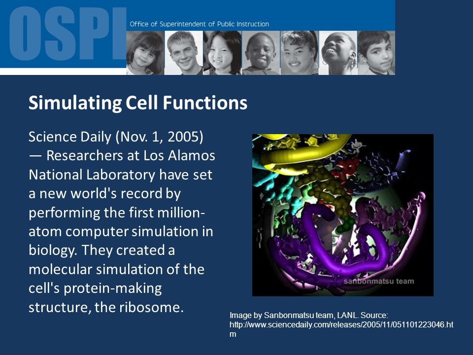 Simulating Cell Functions Science Daily (Nov.
